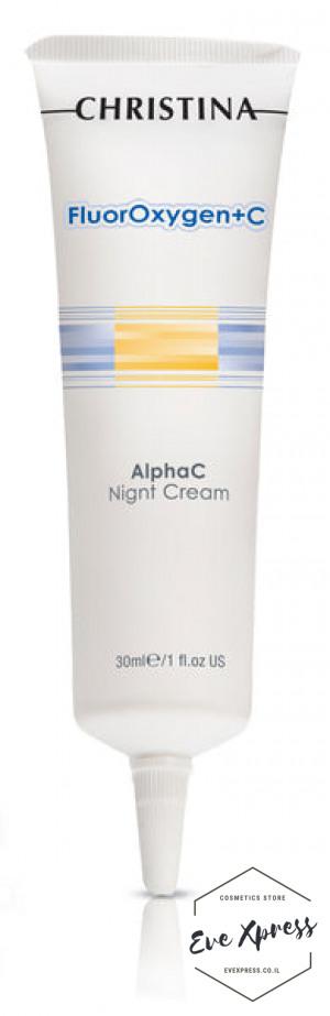FlourOxygen+C Alpha C Night Cream 30ml